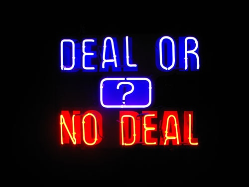 Deal Or No Deal Logo in neon lights