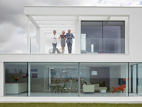 The exterior of Rob and Kay's Grand Designs build