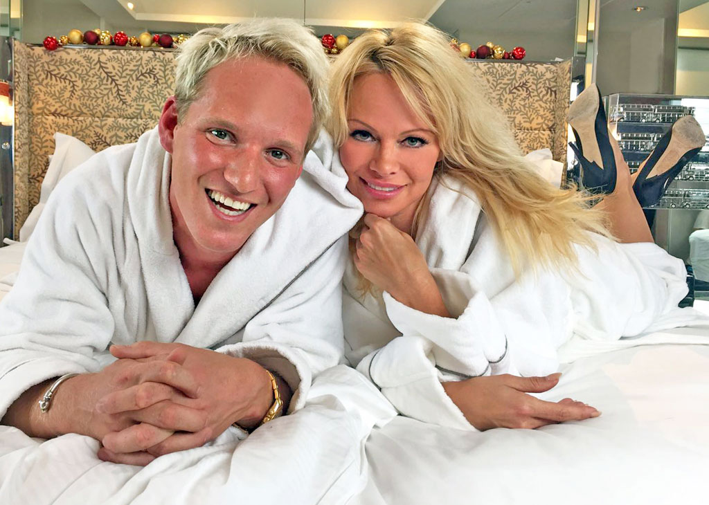 Jamie Laing and Pamela Anderson