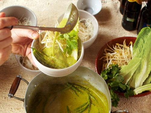 Green Curry with Rice Noodles Recipe