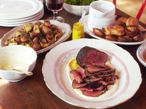 Roast Beef with Baby Yorkies Meal Recipe