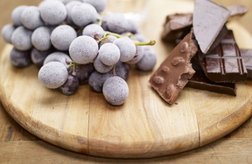 Frozen Grapes, Chocolate and Grappa Recipe