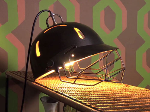 Cricket helmet lamp - Step By Step