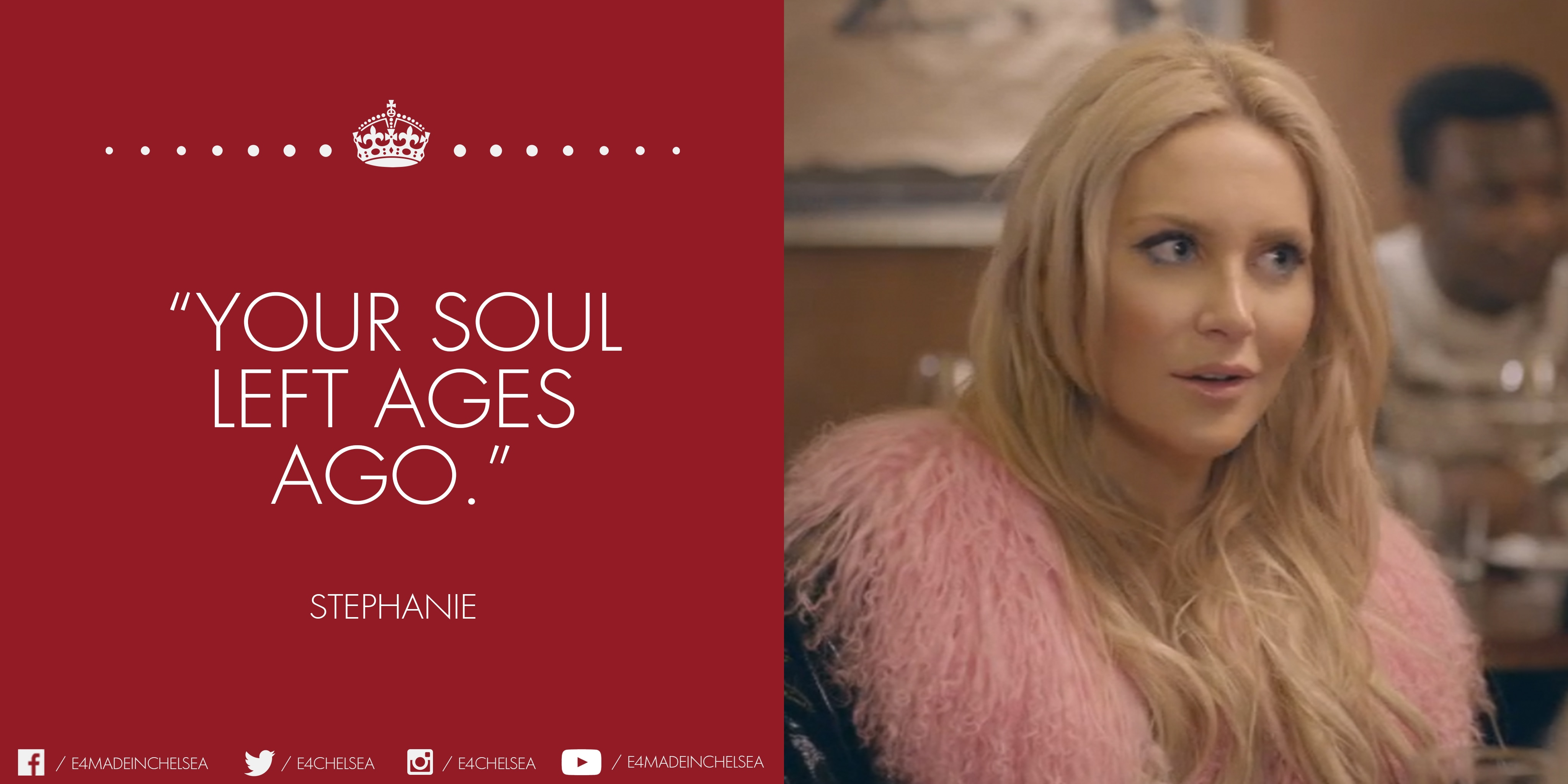 Stephanie - 'Your soul left ages ago'