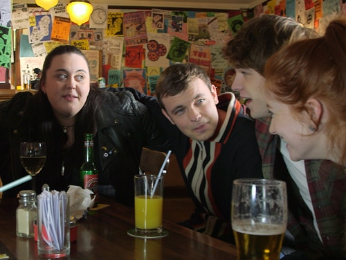 The cast of My Mad Fat Diary