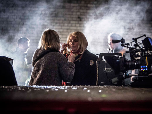 The Cast on Set of No Offence