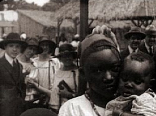 Humans being watched by humans in Bronx human zoo