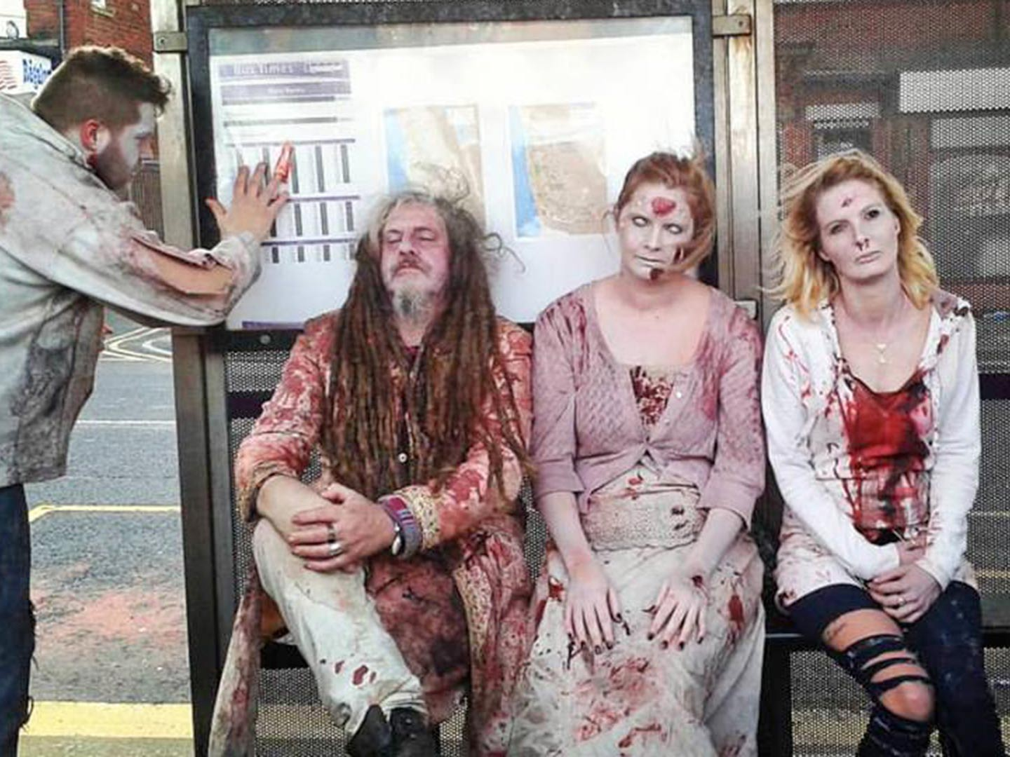 Zombies at the bus stop