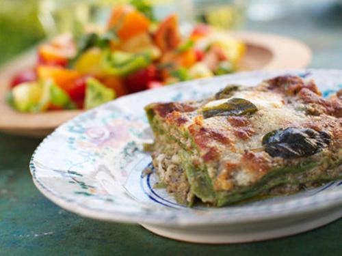 Lasagne Verdi with Sage and Walnut Pesto Recipe