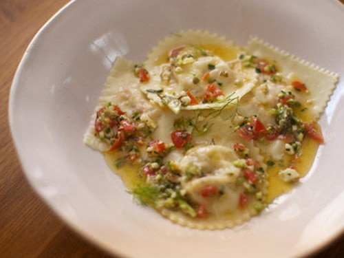 Lobster Ravioli with Butter and Caper Sauce Recipe