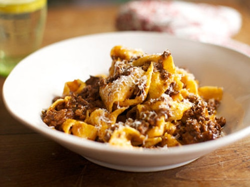 pappardelle with rich ragu