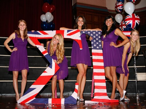 The US Sorority Girls with Greek Letters