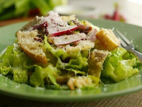 Smoked Almond, Radish and Artichoke Salad