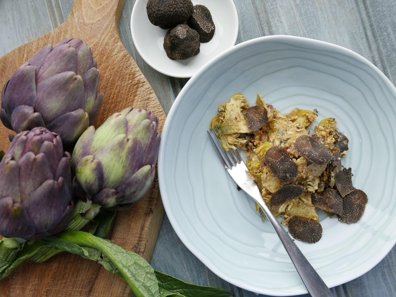 Artichoke, Hazelnut, Parmesan and Truffle Salad