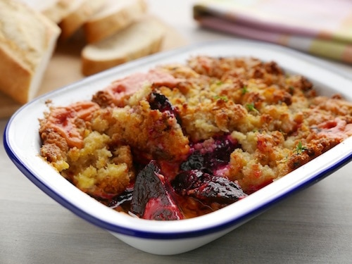 Baked Beetroot Crumble Recipe