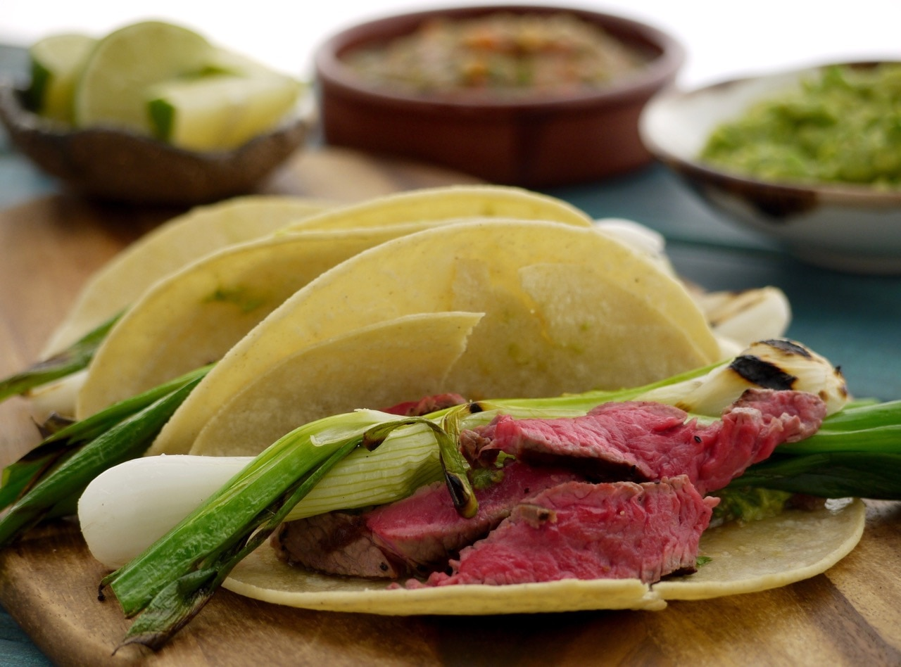 Rick Stein's Char-Grilled Beef Tacos