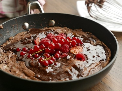 Chocolate and Ricotta Pudding with Mulled Wine Chocolate Sauce