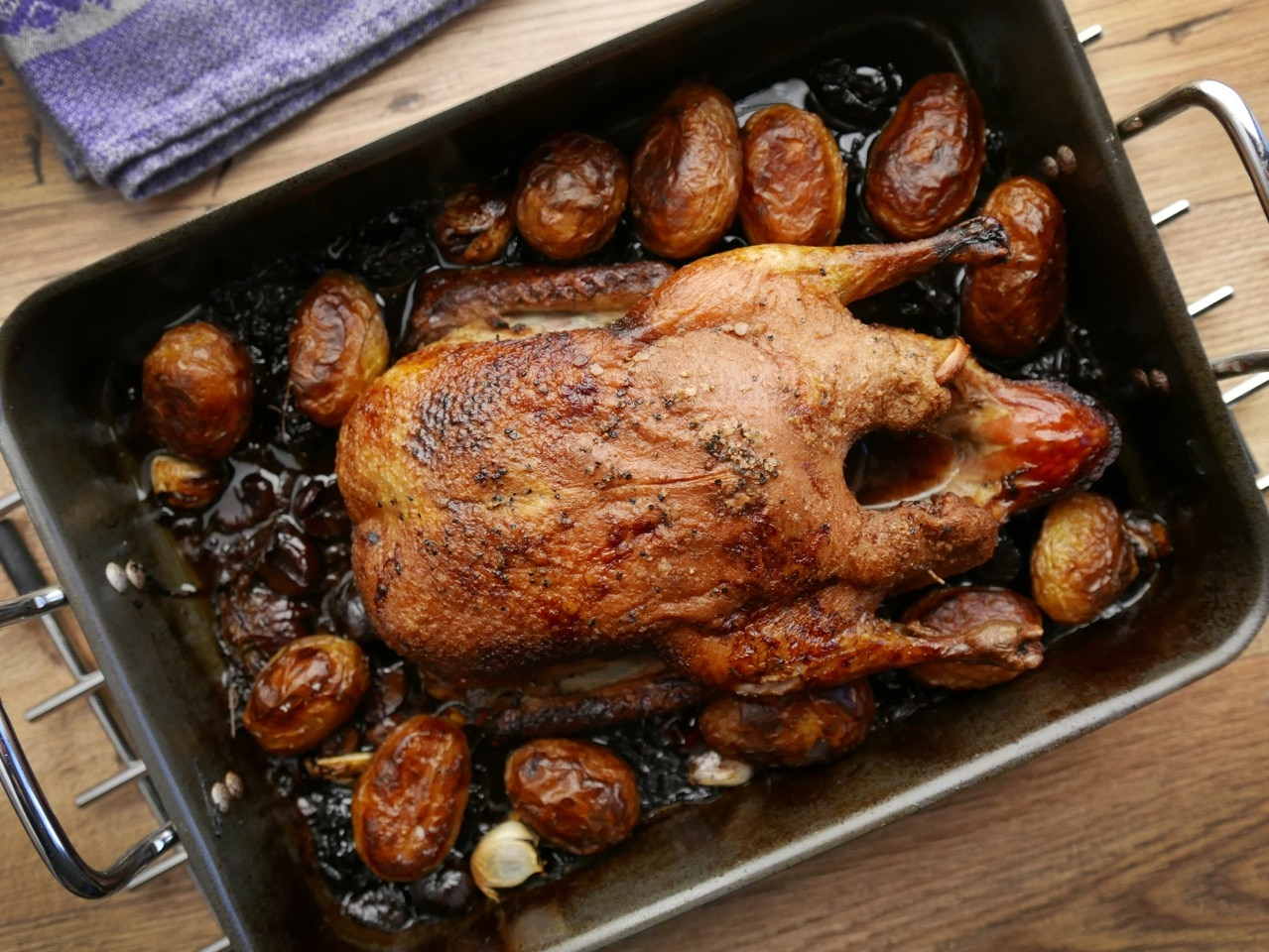 Duck with Prunes, Chestnuts and Sherry