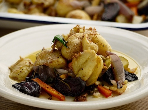 Root Vegetable and Goats Cheese Hash Recipe