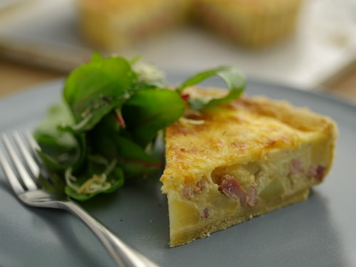 Smoked Bacon and Cheddar Quiche Recipe