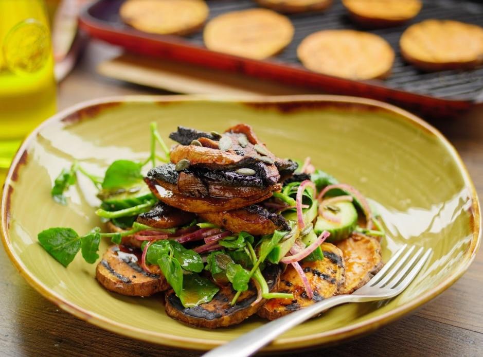 BBQ Mushroom Salad
