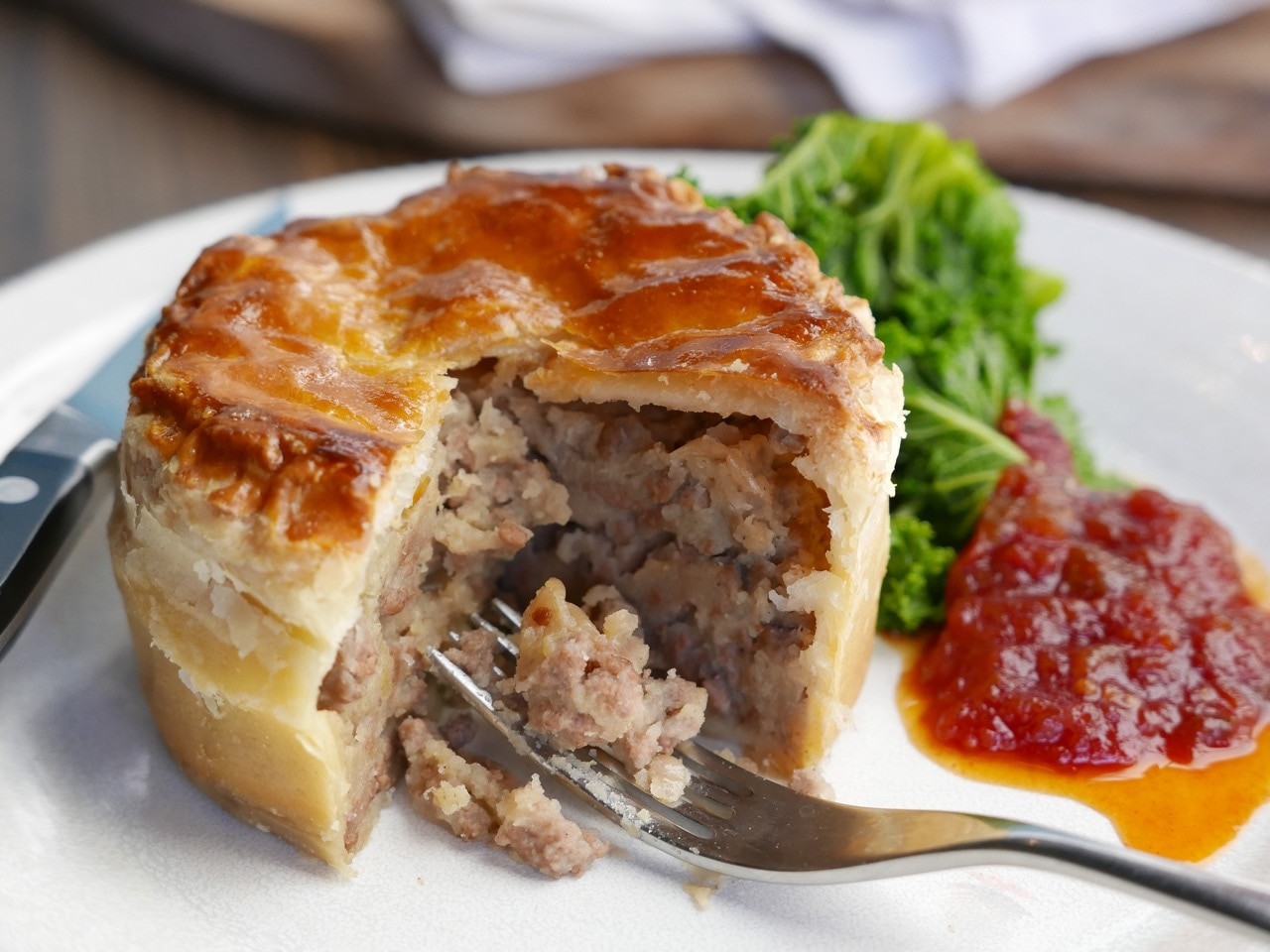 Mince and Potato Puff Pastry Pies
