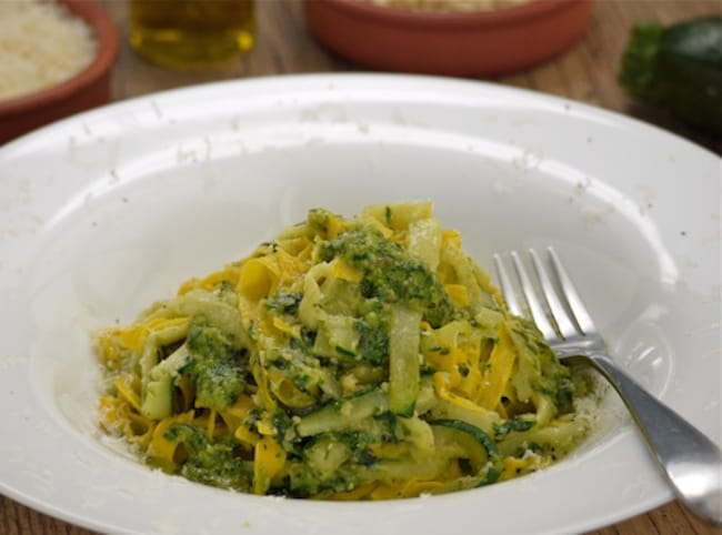 Sunday brunch articles tagliatelle with pesto and zucchini tagliatelle with pesto and zucchini forumfinder Gallery