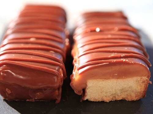 Twix Chocolate Layer Cake - Handle the Heat