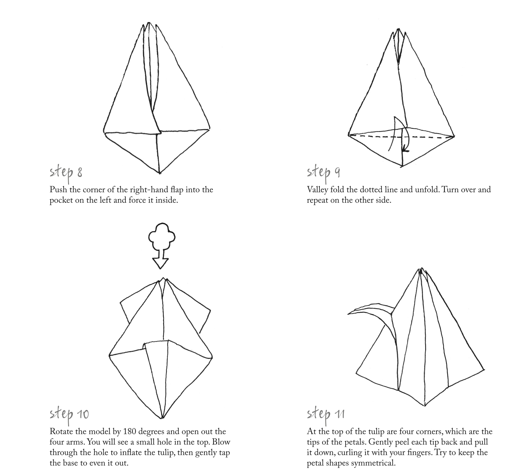 sunday brunch articles how to make an origami tulip all 4 how to make an origami tulip 4