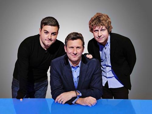 Josh Widdecombe, Adam Hills and Alex Brooker