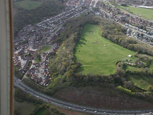 Caerau Hillfort from the air