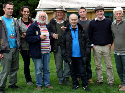 The Time Team crew and the Irish family