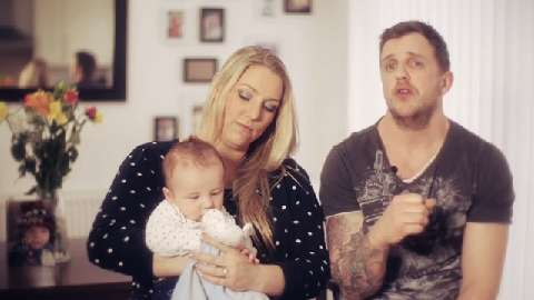Becky and Colin with baby Cole