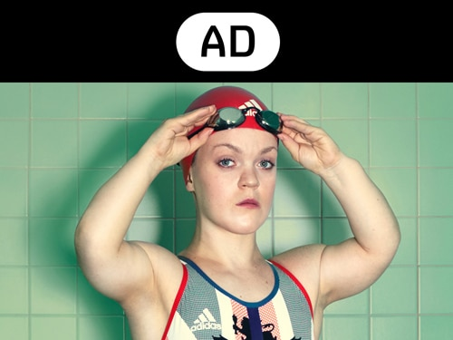 Ellie Simmonds and Audio Described badge