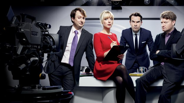 A weekly, live comedy and current affairs show hosted by David Mitchell, Jimmy Carr, Charlie Brooker and Lauren Laverne