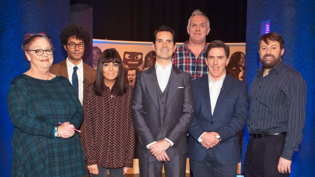 Jimmy Carr hosts the Big Fat comedy panel shows that challenge a dazzling array of celebrity panellists about what they know and there's a lot of questions that need answering...