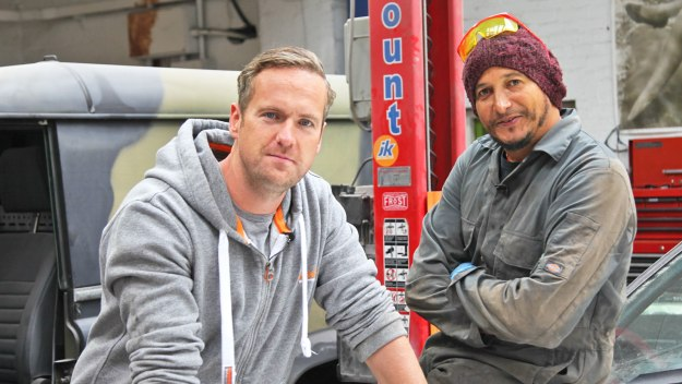 Tim Shaw and Fuzz Townshend employ graft, mechanical expertise and tender loving care to restore rusty but much-loved old motors to their former glory for their surprised owners