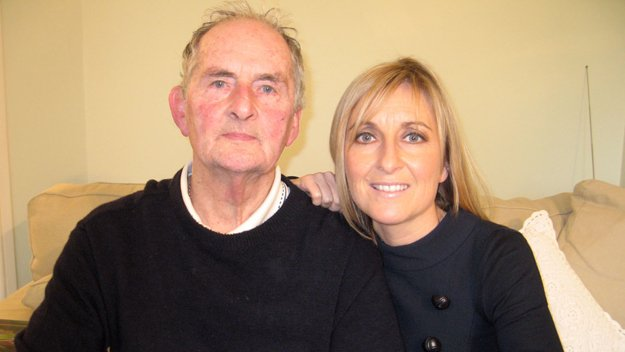 Fiona Phillips and her dad Neville