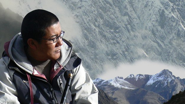 Reporter Tash Despa in Tibet