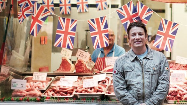 Jamie Oliver travels the country searching for new ideas and inspiration and to find out what makes British food great