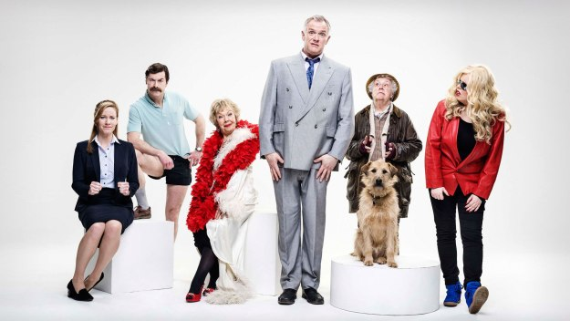 Comedy series written by and starring Greg Davies as Dan, a childish idiot whose world is on the brink of collapse
