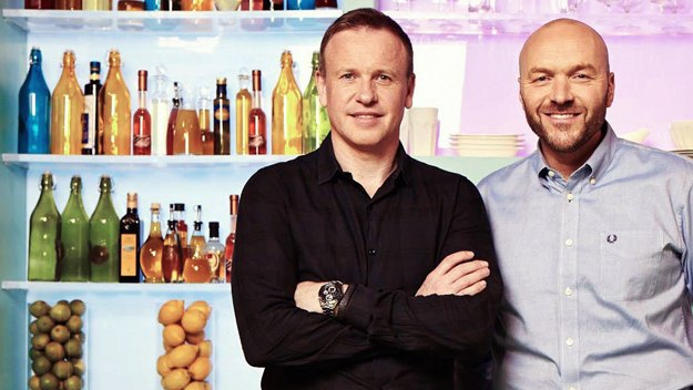 Tim Lovejoy and Simon Rimmer host Sunday Brunch, packed with celebrity guests, tasty cookery and chat