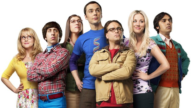The Big Bang Theory: Bernadette, Howard, Amy, Sheldon, Leonard, Penny and Raj