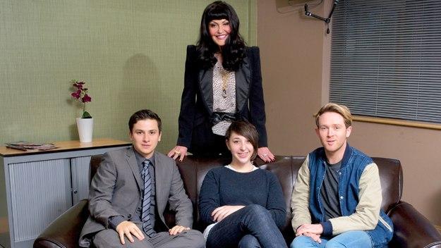 Lizzie, John and Dan