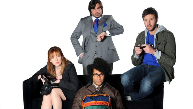 Award-winning comedy from writer Graham Linehan. Banished from the ivory towers of Reynholm Industries, the IT crowd lurk below ground, avoiding work and social contact in equal measure...