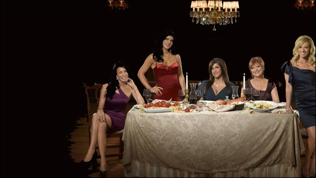 Glam reality series following the dramas of five headstrong housewives - Teresa, Jacqueline, Caroline, Dina and Danielle - as they juggle motherhood with their pampered New Jersey lifestyles