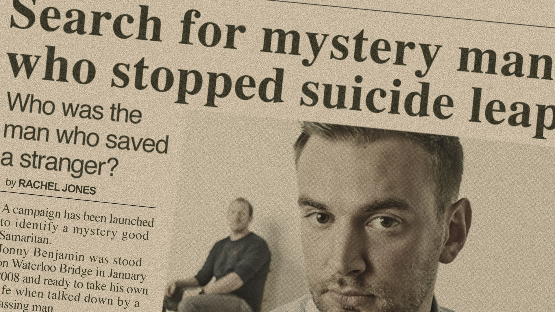 Search for mystery man who stopped suicide leap