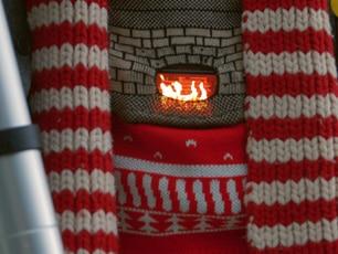 Crackling Fireplace Christmas Jumper