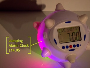 Jumping Alarm Clock