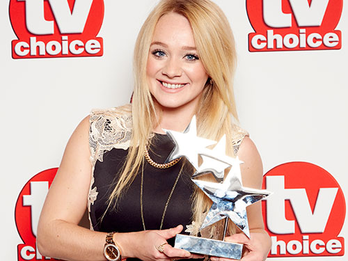Kirsty-Leigh Porter wins Best Soap Newcomer at the TV Choice Awards